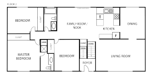 Floor Plan Add on 1 Page Black and White Traditional Floor Plan