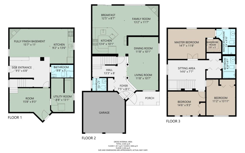 Color Floor Plan